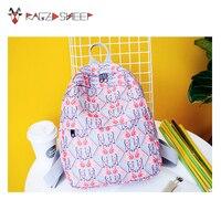 Raged Sheep Flamingo Women Backpack Girls School Backpack For Teenage Girls School Bag Canvas Female Backpacks