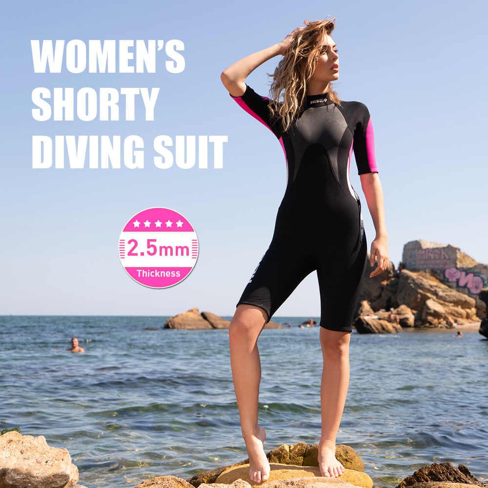 Женский 2,5 мм неопрен Дайвинг-комбинезон костюм для дайвинга УФ защитный гидрокостюм для сноркелинга сёрфинга для плавания весло для посадки