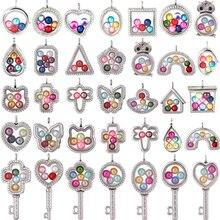 Магнитная стеклянная плавающая подвеска, медальон, хрустальные кулоны для фотографии 35 стилей на выбор