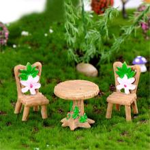 3 шт Цветочные настольные стулья миниатюрный микро пейзаж волшебный сад, кукольный дом Декор