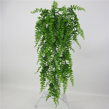Simulation fern grass green plant artificial fern persian leaves flower wall hanging plants home wedding shop decoration