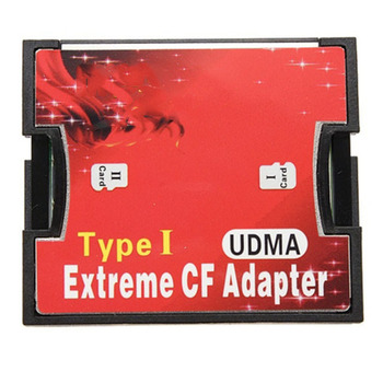 MicroSD Memory to CF Card Adapter TF Card Micro SD/HC to Compact Flash Type I Memory Card Reader Converter Dual Slot