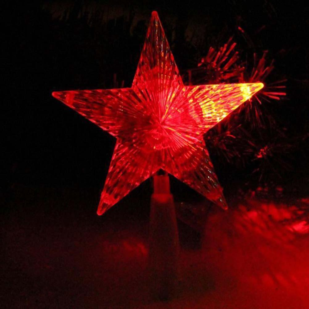 Christmas Tree Topper Star Light Colorful Changing Toy Gift Xmas LED Lamp Decorations party lights christmas outdoor EU Plug