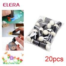 ELERA 20 unids/lote espuma de los dedos Daubers para aplicar tiza tinta Iinking que altera cualquier proyecto de artesanía pintura de dedo