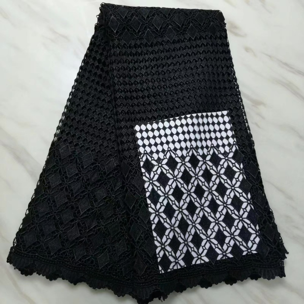 African lace fabric 5yds/pce dhl black swiss voile cotton guipure fabrics women gorgeous luxury party event dress 2019 newAfrican lace fabric 5yds/pce dhl black swiss voile cotton guipure fabrics women gorgeous luxury party event dress 2019 new