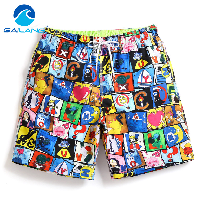 Gailang Brand Mens Beach Shorts Quick Drying Board Shorts Trunks Casual Men Active Boxer Trunks Jogger Man Swimsuits Swimwear