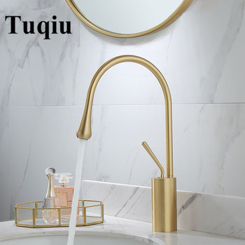 Basin Faucets Brushed Gold/Black/White Sink Faucet Brass Faucet Single handle Kitchen Faucet Swivel Sink Water Crane New Arrival