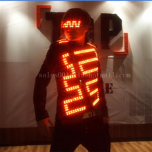 LED Luminous Costume For Men Clothing Light Up Suits Dance Wear Event Party Supplies Accept Custom Design
