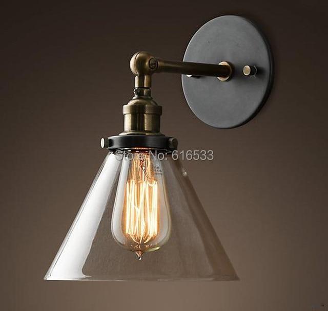 Charmant Loft Vintage Industriel Rétro Lustre En Verre Cuivre Edison Applique Murale  Lampe Salle De Bain Chambre