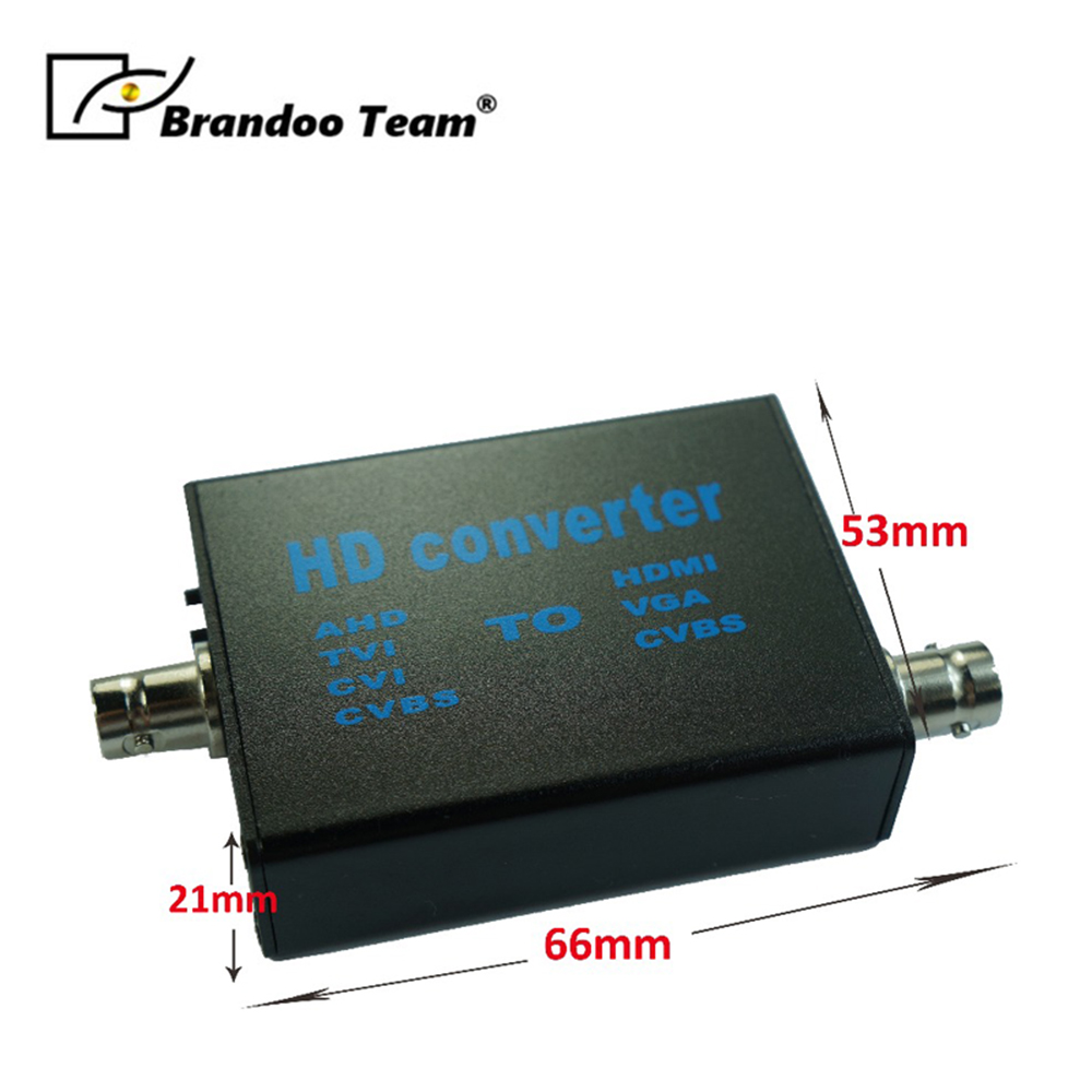 Brandoo Free Shipping High Definition Video Signal Convertor,convert AHD/TVI/CVI/CVBS To HDMI/VGA/CVBS Factory Direct.