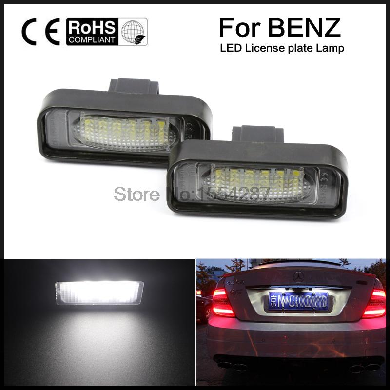 2pcs For Mercedes-Benz S-Class W220 S320 S420 S430 LED Number License Plate Lights MB AMG Carlson