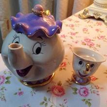 Neue angekommene Förderung! Teaset Cartoon Schönheit Und Das Biest Teekanne Tasse Mrs. Potts Chip kostenloser Versand