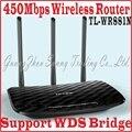 Чин-Прошивки 3 Антенны 450 Мбит Беспроводной Маршрутизатор для большой bouse офиса Tp-link N450 TL-WR881N 450 М AP WDS Мост, TL WR881N