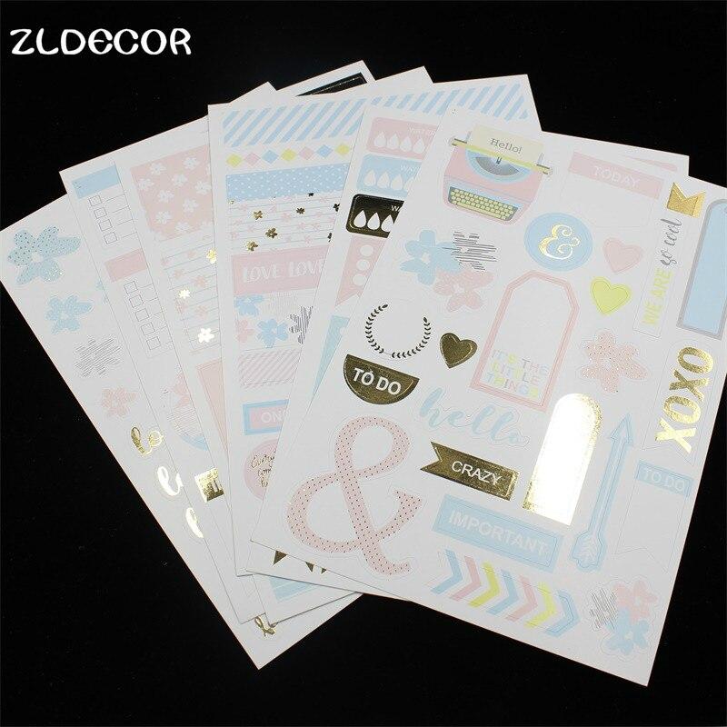 Zldecor время путешествовать самоклеящиеся Бумага Стикеры для Скрапбукинг/DIY ремесла/карты внесении украшения