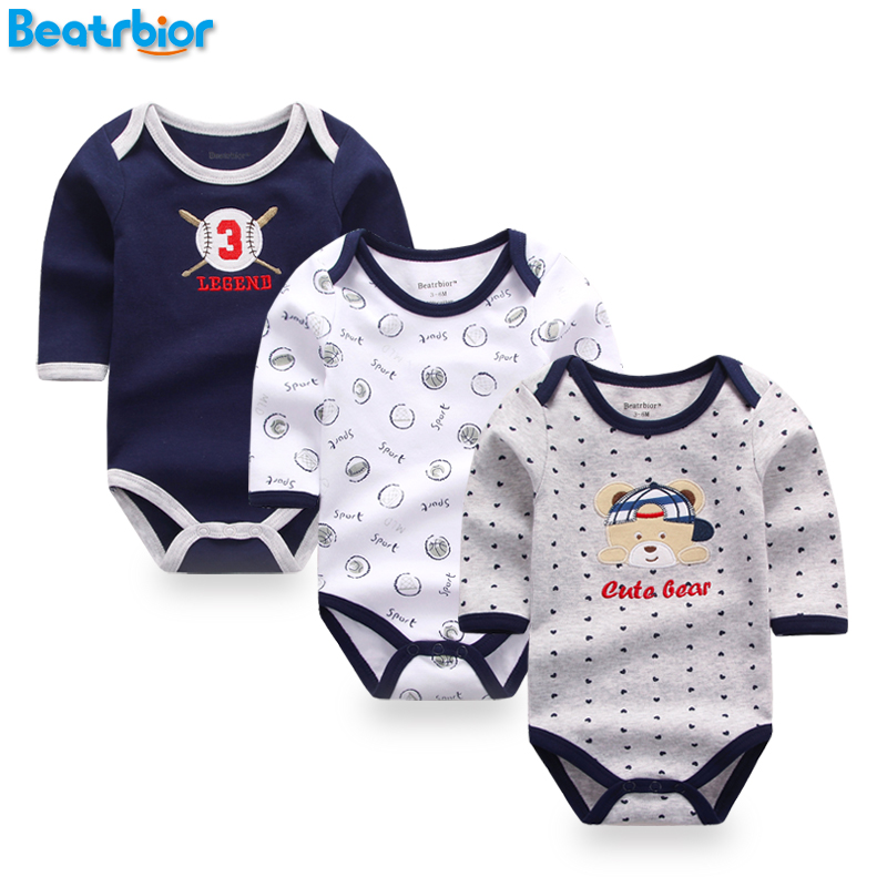 512884b74689c 3 Pcs Baby Rompers Long Sleeve Cotton Baby Clothing Overalls for Newborns  Baby Boy Girl Clothes