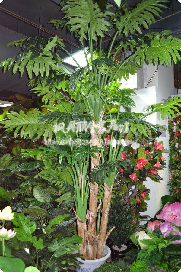 Outdoor Large Tropical Artificial Plants Decoration 3 Meters 5 Rod Xilin Taro Ornamental