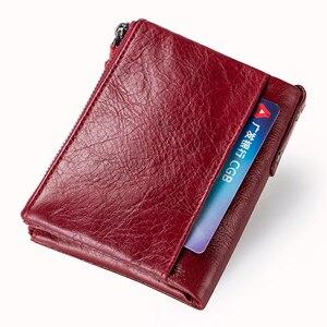 Image 4 - Vendita calda 2020 portamonete con cerniera portafoglio donna portafogli in vera pelle borsa moda borsa corta con porta carte di credito Hasp Design