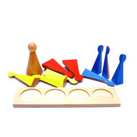 Wooden Montessori Toys Maths Large Wooden Fraction Kindergarten Education Learning Toys For Kids Birthday Gift E2264Z