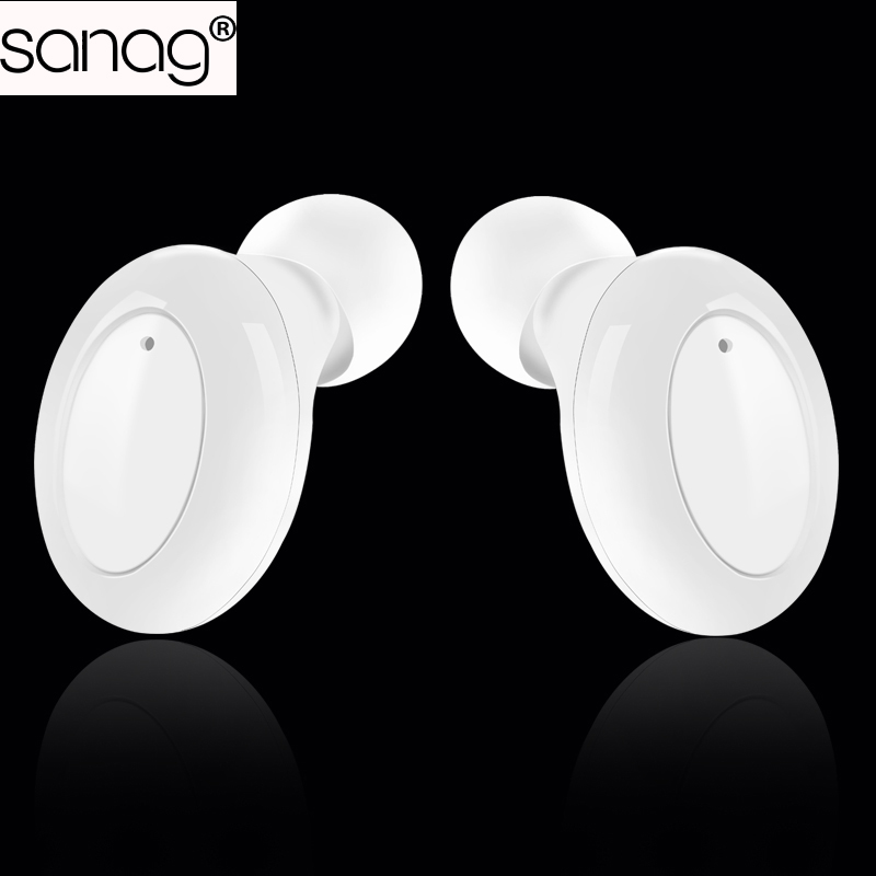 SANAG S8 wireless Bluetooth earphone and in-ear stereo Hifi microphone headset with Portable power Box charge for iPhone XIAOMI xiaomi miui 3 5mm stereo in ear earphone w microphone blue