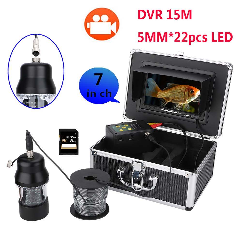 Conscientious 15m Professional Underwater Fishing Video Camera Fish Finder 7 Inch Dvr Video Recorder 8g Card Waterproof 22 Leds 360 Degree Bracing Up The Whole System And Strengthening It