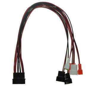 IDE męski portu 1 do 6 sposobów 4Pin wentylator męski kabel Molex wtykiem D do 4 Pin/3Pin chłodnicy Y Splitter 5 V 7 V 12 V moc wentylatora kabel zasilający