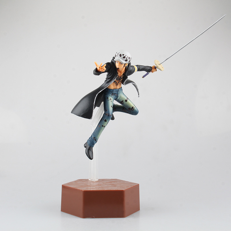 Huong Anime <font><b>One</b></font> <font><b>Piece</b></font> 24CM <font><b>ichiban</b></font> <font><b>KUJI</b></font> Trafalgar Law flighting ver. PVC Figure Collection Brinquedos Model Toy image