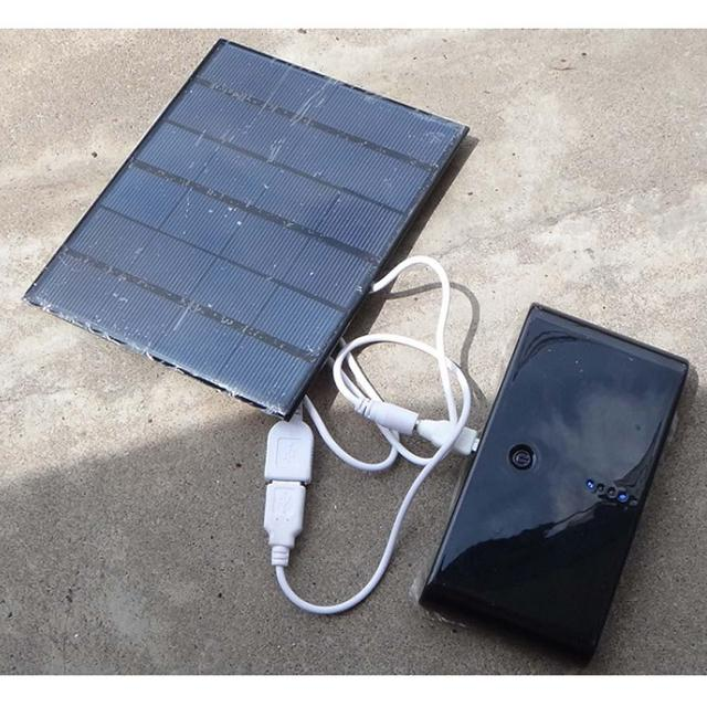 6v 3 5w Usb Solar Charger Panel Outdoor Travel Battery For