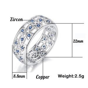 Женское кольцо с фианитом Beiver, двухтонное кольцо с белым золотом, Модный популярный горный хрусталь обручальные кольца для женщин