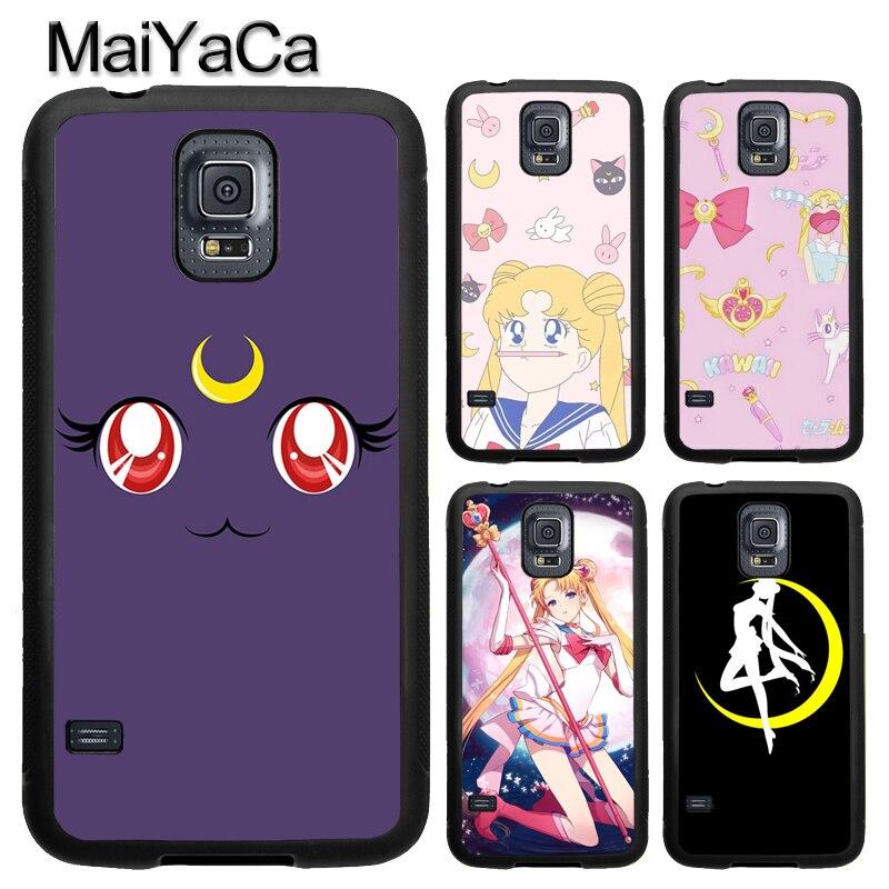 MaiYaCa Japan Cartoon Sailor Moon Phone Case For Samsung Galaxy S9 S8 Plus S4 S5 S6 S7 edge Note 8 5 4 TPU Cover Skin Shell