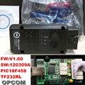 Alta calidad A + + + Software Opcom 2014.02 con Chip de OP-Com PIC18F458 puede OBD2 Opel Firmware V1.60 Opel Op com CAN BUS interfaz