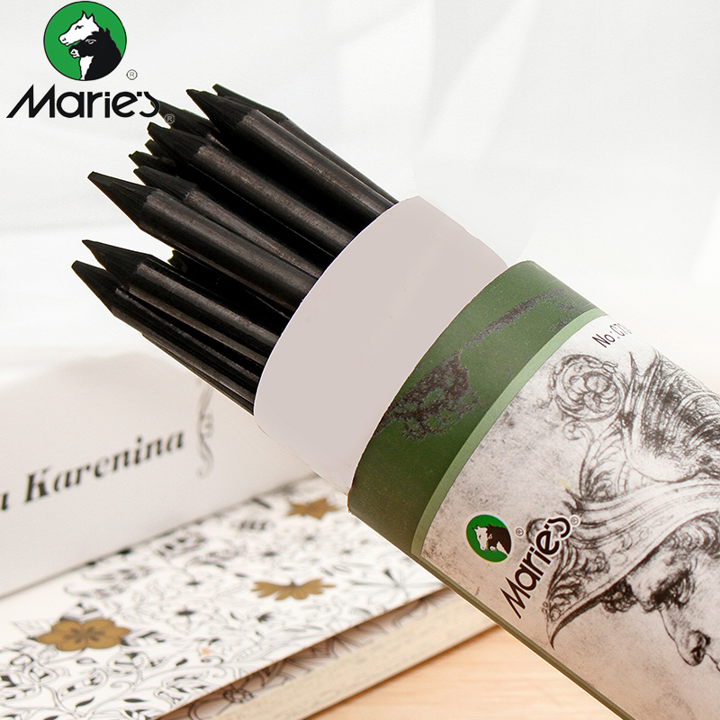 Maries Full Charcoal Pencil Sketch In Soft Carbon Pen School Professional Painting Art Special Painting Brush