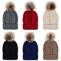 Hat Female Dual-use Pleated Knitted Large Sphere Cap Fleece Inside Thick Warm Velvet winter Skullies & Beanies hats for women
