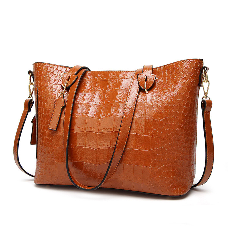 MJ Women Shoulder Bag Female Large PU Leather Women Handbag Crocodile Patterned Leather Tote Big Crossbody Handbag Messenger Bag hjphoebag fashion crocodile handbag pu leather bag women handbags crossbody bag handbag messenger bag rse wallet 6 sets z 0077