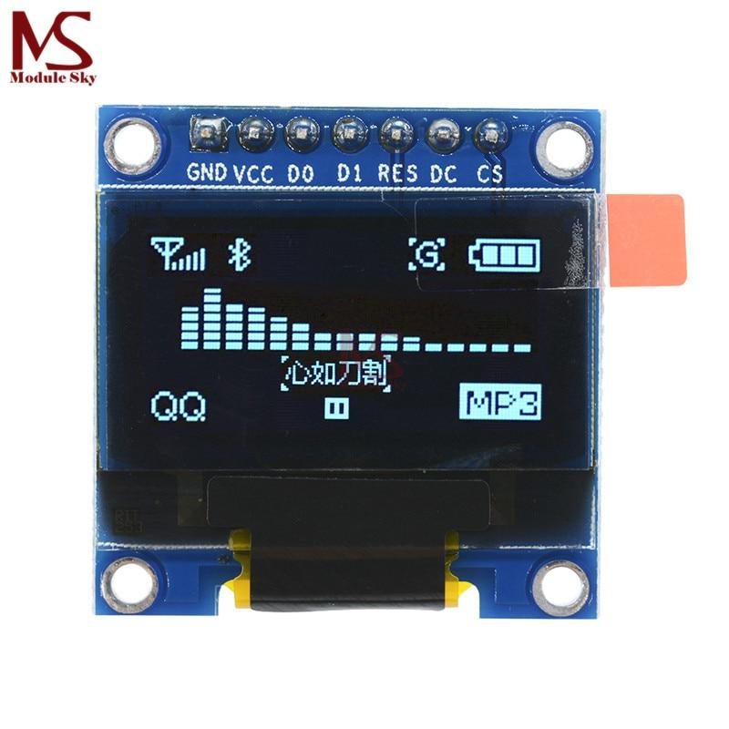 0,96 Zoll Iic Spi Serielle 128x64 Blau Oled Lcd Led Display Modul Für Arduino Neue Original
