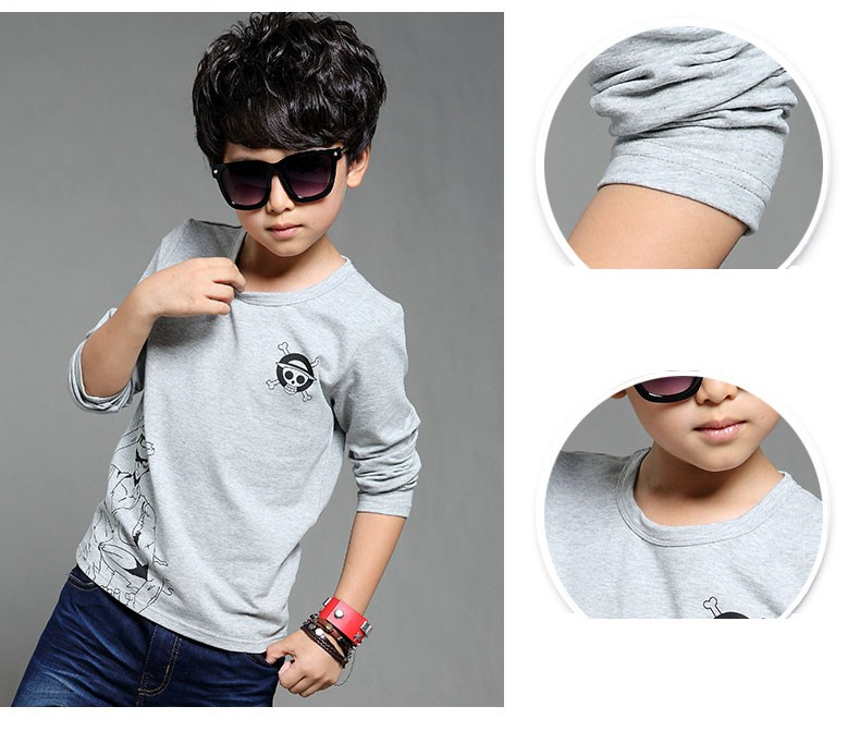 anime Skull sprinted kid t-shirt for boys clothes t-shirt long sleeve white gray cartoon children tops tees boys spring autumn 2017 new clothing (10)