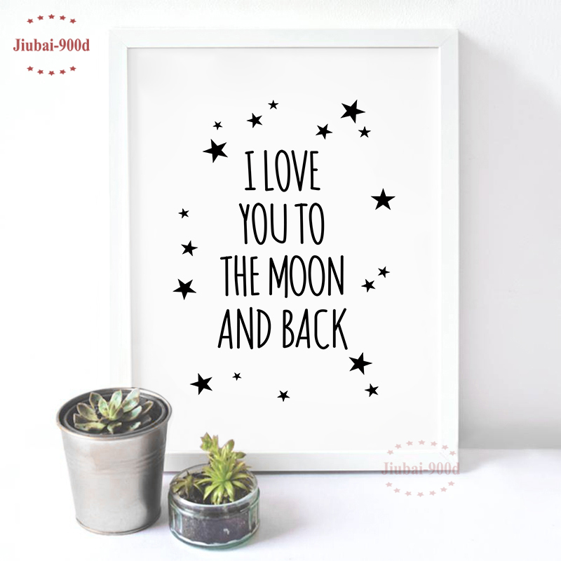 Love Quote Canvas Art Print Painting Poster, Wall Pictures For Child Room Decoration, Ca ...