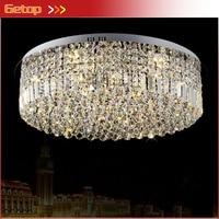 Лучшая цена K9 crystal led Потолочные светильники Нержавеющаясталь круговой кристалл лампы Гостиная Спальня лампа Освещение светильники