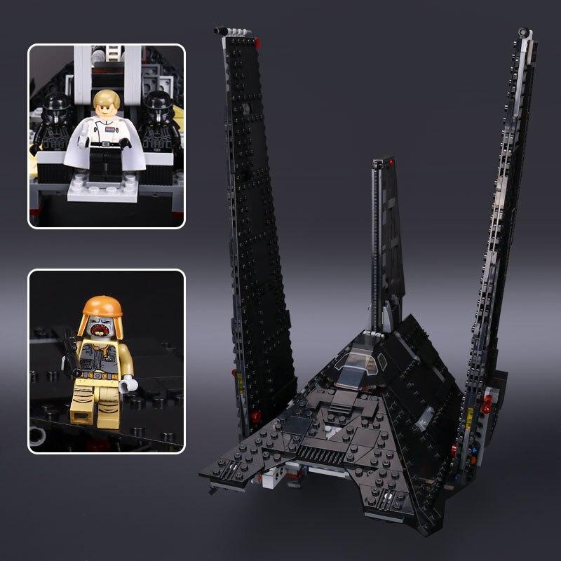 05049 star krennics imperial shuttle 모델 75156 빌딩 블록 워즈와 호환 공간 완구 소년 선물-에서블록부터 완구 & 취미 의  그룹 2