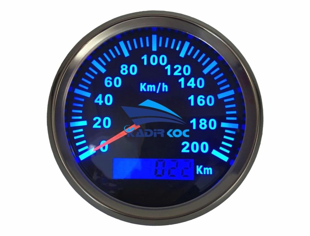 1 stk 85mm autotuning målere sort GPS hastighedsmålere Ratemetre - Bilreservedele - Foto 2