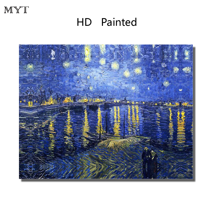 Fashion Famous Van Gogh Star HD Printed Painting Home Decor Art Picture for bed room living room No Framed or Diy Framed