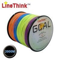 2000M LineThink Brand GOAL Best Quality Multifilament 100 PE Braided Fishing Line Fishing Braid Free Shipping