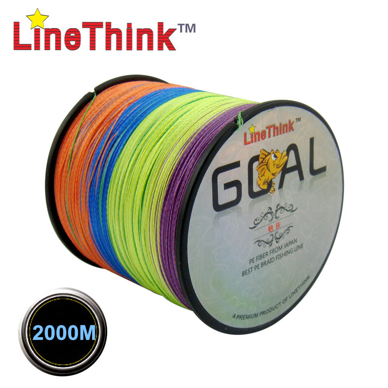 2000M LineThink Brand GOAL  Best Quality Multifilament 100% PE Braided Fishing Line Fishing Braid  Free Shipping