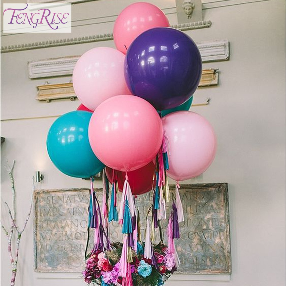 FENGRISE 36 inchi Transparent Clear Baloane Latex Buchete de nunta Big Ball Birthday Party Decoration Valentines Day Decor