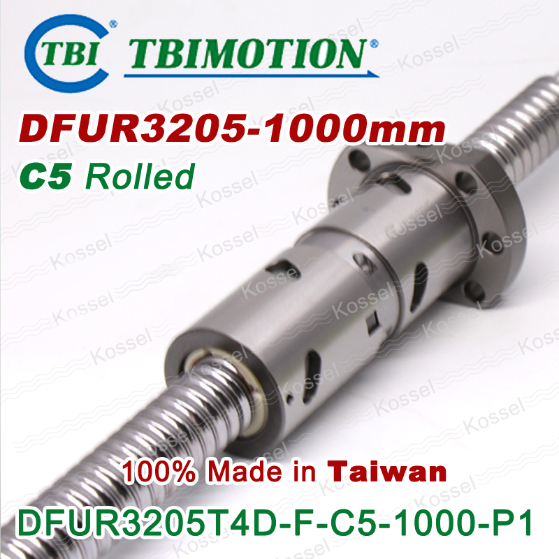 100% Taiwan TBI MOTION DFU3205 Ball screw Rolled C5 1000mm with DFU 3205 Ball nut
