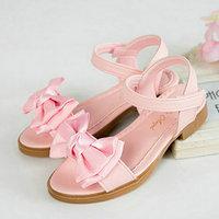Summer Children Girls Sandals PU Leather Kids Sandals for Girls Non Slip Bowknot Princess Shoes Kids Girls High heels