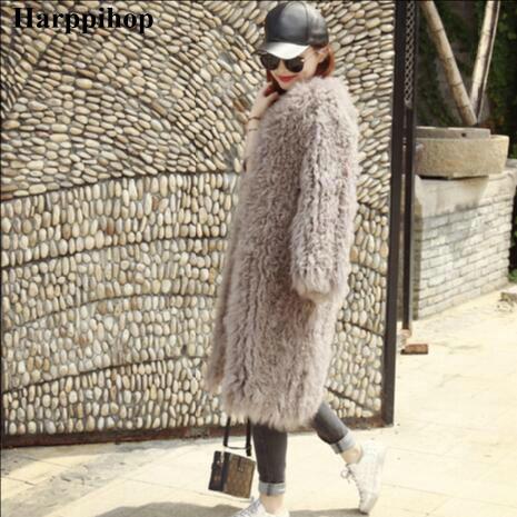 2018 Новая женская шуба из овечьей шерсти желтовато коричневая овца шуба короткая куртка из овечьей кожи 90 см монгольский овечий мех