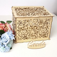 DIY свадебная открытка коробка с замком великолепное свадебное украшение поставки для дня рождения деревянная коробка для денег