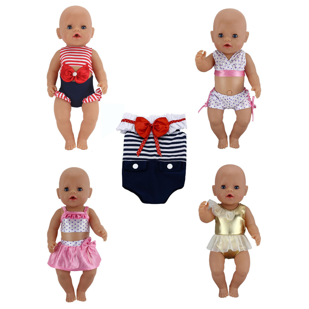 Short Summer Set Doll Clothes Wear fit 43cm Baby Born zapf(only sell clothes) summer set for 18 american girl doll bikini cap summer swimming suit with hat also fit for 43cm baby born zapf doll clothes