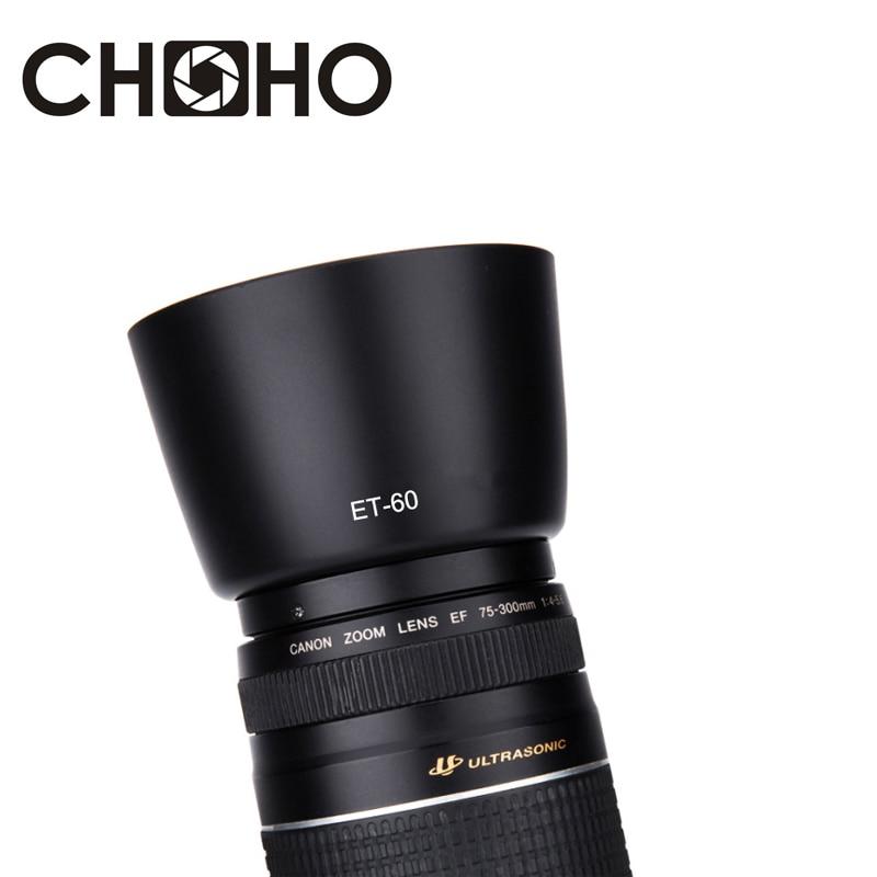 ET-60 58mm Et60 Lens Hood Reversible Camera Accessories For Canon EF-S 55-250mm F/4-5.6 IS II & EF 75-300mm F/4-5.6 III USM Lens