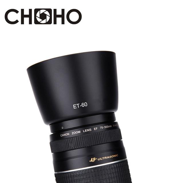ET-60 58mm et60 capucha de lente accesorios de cámara Reversible para Canon EF-S 55-250mm f/4- 5,6 II y EF 75-300mm f/4-5,6 III USM